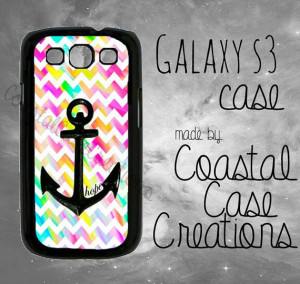 Anchor Hope and Colorful Chevron Quote by CoastalCaseCreations, $18.99