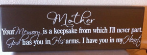 In Memory Of Mother Quotes Mother memory