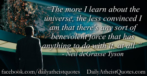 Neil deGrasse Tyson Atheist Quotes