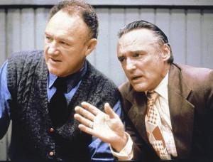 Dennis Hopper & Gene Hackman in 'Hoosiers' (1986).