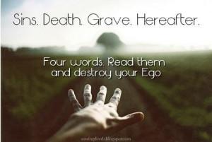 Sins. Death. Grave. Hereafter