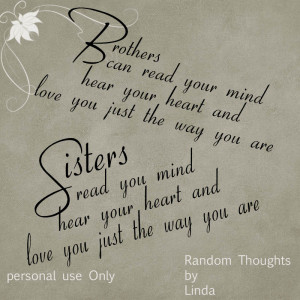 Quotes About Brothers And Sisters Bond: Sisters