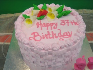 37th Birthday Cake picture
