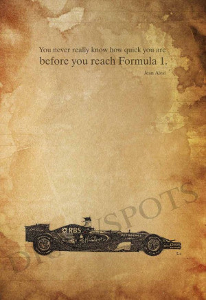 Personalized art print Jean Alesi quote You never by drawspots, $38.00