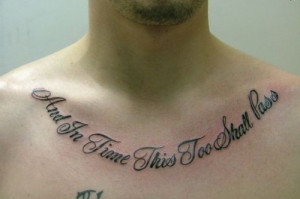 Tattoo Quotes Artistic Good For Men Bible Love