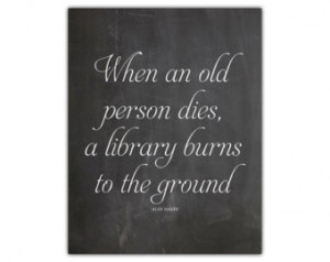 quote - grandpa rent - library art - life quote - motivational wall ...