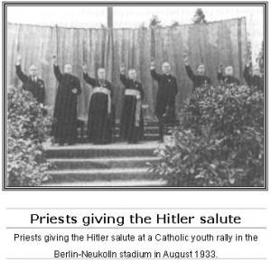 more priests salute hitler hitler invites the papal nuncio orsenigo