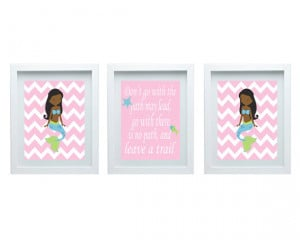 Baby Girl Room Art Inspirational Quote Mermaid Nursery Art Pink Blue ...