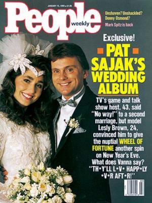 People Covers, Leslie Brown, Celebrities Weds8090, Pat Sajak, Sajak ...