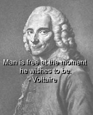 Voltaire, quotes, sayings, man, free, wish, inspiration