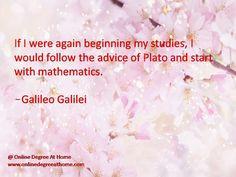 Math Quotes Galileo | ... mathematics. -Galileo Galilei # ...
