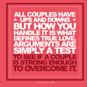All Couples Have Ups And Downs Relationship Quote Picture