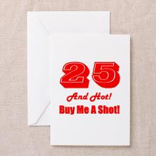 25th Birthday Greeting Cards (Pk of 10) for