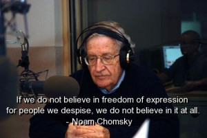 Noam chomsky quotes and sayings meaningful freedom deep