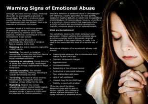 Emotional abuse - signs