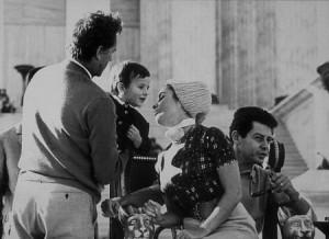 Elizabeth Taylor, Eddie Fisher and Richard Burton on the set of