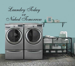 Laundry Room: Laundry Today or Naked Tomorrow