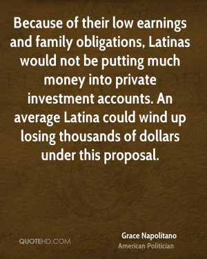 Because of their low earnings and family obligations, Latinas would ...