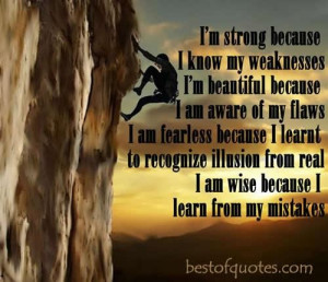 am strong because quote