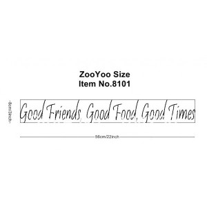 FRIENDS, GOOD FOOD, GOOD TIMES Vinyl wall quotes and sayings home ...