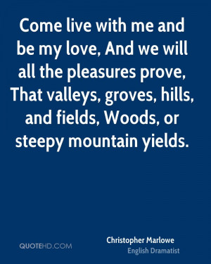 Christopher Marlowe Love Quotes
