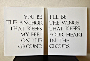 Anchor Quotes About Family 16x20inch quote on canvas
