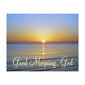 Good Morning God Christian...