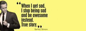 Barney stinson quote Facebook Cover Photo