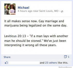 it all makes sense now. Gay marriage and marijuana being legalized on ...