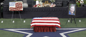 Navy SEAL Chris Kyle during a memorial service for the former sniper ...