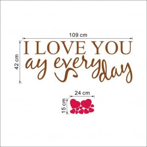 Say I Love You Everyday Wall Quotes Art Decals