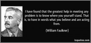... know where you yourself stand. That is, to have in words what you