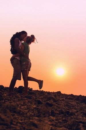 love kiss sun sunset dreads dreadlocks lovley