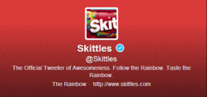 Skittles Directing Traffic to a Twitter Results Page