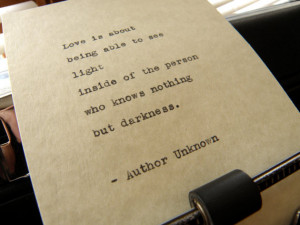 Author Unknown Quote,