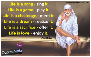 Here is a Best and popular Sai baba Quotes images, Sai baba Inspiring ...