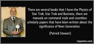 are several books that I have-the Physics of Star Trek, Star Trek ...
