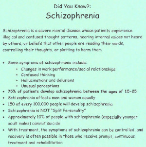 Find out more about students who struggle with schizophrenia at the ...