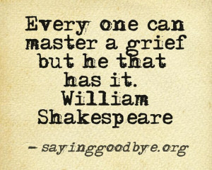 Shakespeare Quotes Grief