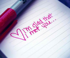 Love #Im glad i met you #awh