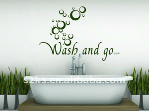 Chinese words four seasons vinyle wall quotes sticker