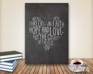 ... wall decor,instant download,Love printable,Faith Hope Love Quote