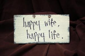 Happy Wife Life Quote