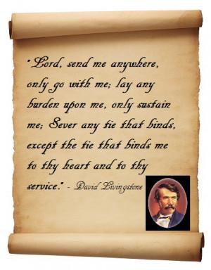 David Livingstone, I presume