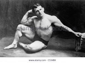 Stock Photo John Lemm champion wrestler circa 1910 1915