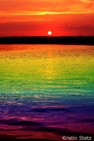Rainbow sunset~Kristin Stetz