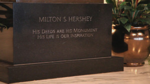 ... are his monument, his life is our inspiration quote from M.S. Hershey