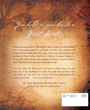 The Secret by Rhonda Byrne, Hardcover 2006