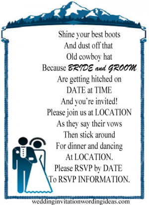 country wedding invitation wording from bride and groom Tq2SWDkZ