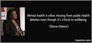 Mental health is often missing from public health debates even though ...